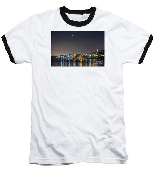 Moon Over Aquatic Park Baseball T-Shirt