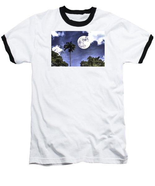 Baseball T-Shirt featuring the digital art Moon Over Belize Two by Ken Frischkorn