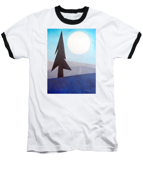 Moon Rings Baseball T-Shirt by J R Seymour