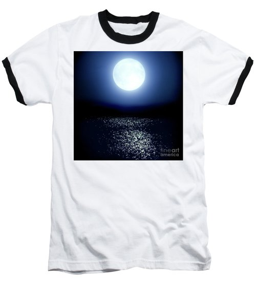 Baseball T-Shirt featuring the photograph Moonlight by Tatsuya Atarashi