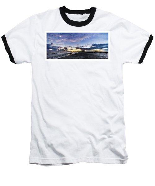Moonlit Beach Sunset Seascape 0272b1 Baseball T-Shirt