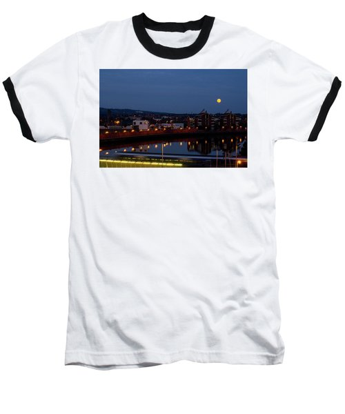 Moonrise In Belfast Baseball T-Shirt