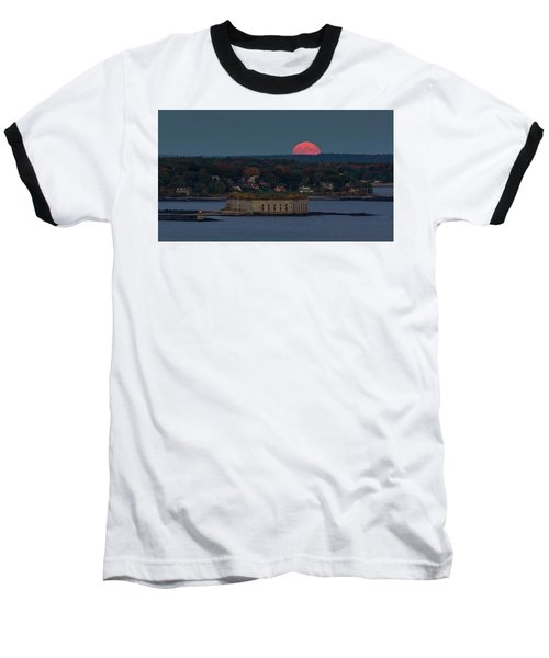 Moonrise Over Ft. Gorges Baseball T-Shirt
