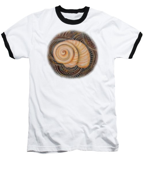 Moonsnail Mandala Baseball T-Shirt