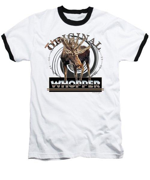 Moose Whooper Baseball T-Shirt by Susan Kinney