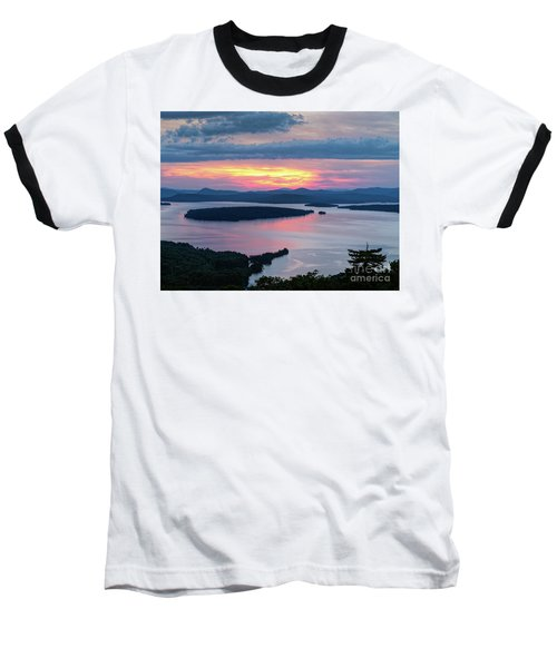 Mooselookmeguntic Lake In The Last Light Of Day - Rangeley Me  -63430 Baseball T-Shirt