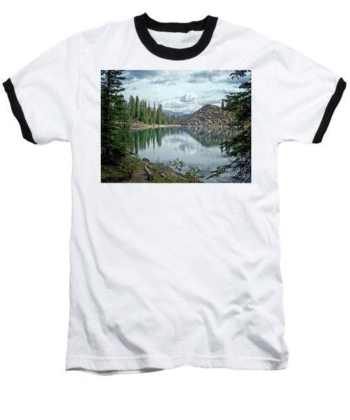 Moraine Lake Canadian Rockies Baseball T-Shirt