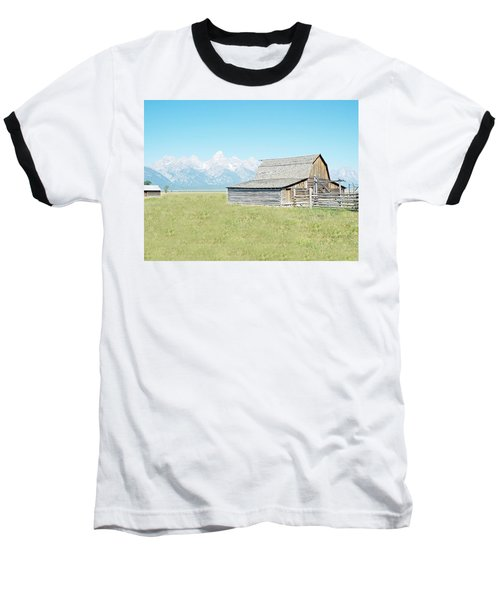 Mormon Row Barn - Grand Tetons Baseball T-Shirt by Joseph Hendrix