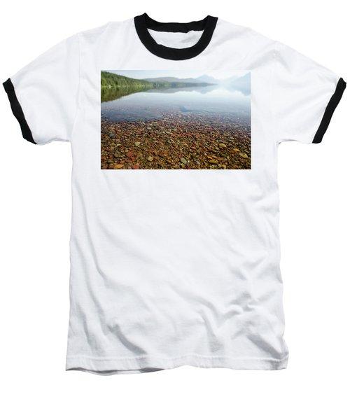 Morning At Lake Mcdonald Baseball T-Shirt