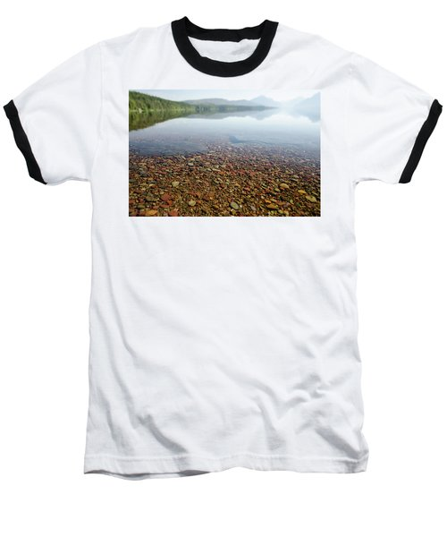 Morning At Lake Mcdonald Baseball T-Shirt