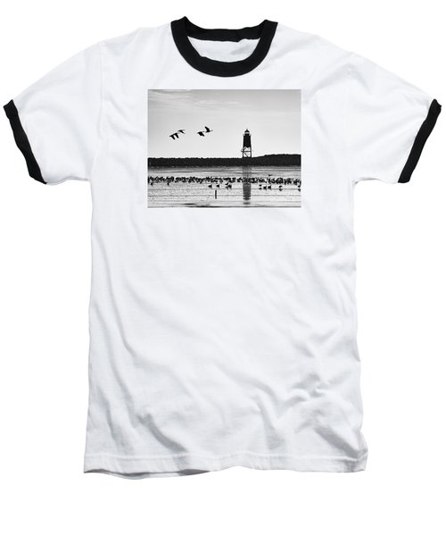 Baseball T-Shirt featuring the photograph Morning At Racine Lakefront by Ricky L Jones