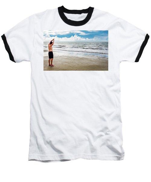 Morning Beach Workout Baseball T-Shirt