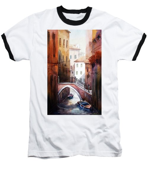 Morning Canals Baseball T-Shirt by Samiran Sarkar