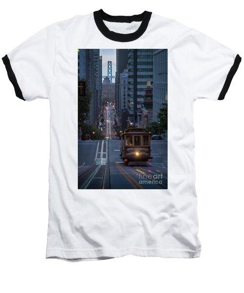 Morning Commute Baseball T-Shirt by JR Photography