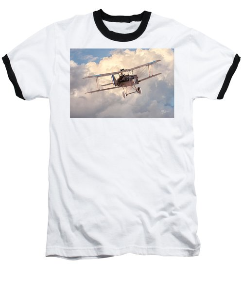 Morning Flight - Se5a Baseball T-Shirt by David Collins