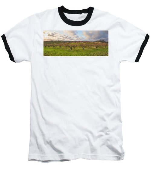 Morning Glory Orchards Baseball T-Shirt by Angelo Marcialis