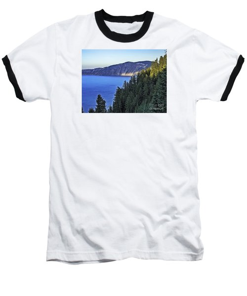 Baseball T-Shirt featuring the photograph Morning Light At Crater Lake, Oregon by Nancy Marie Ricketts