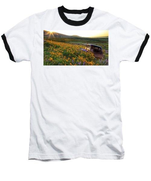 Morning Light On The Old Rusty Car Baseball T-Shirt by Lynn Hopwood