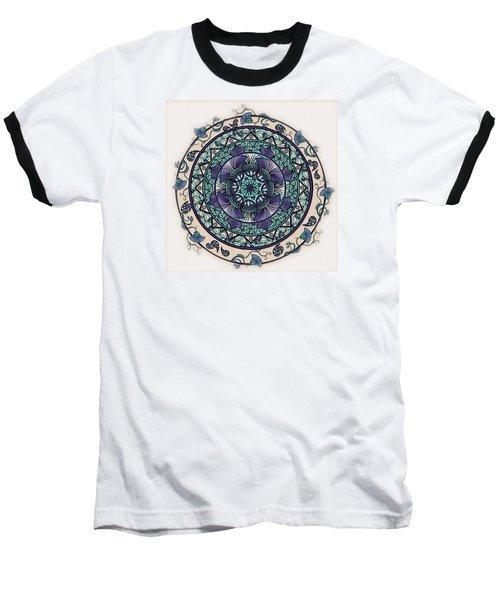 Morning Mist Mandala Baseball T-Shirt