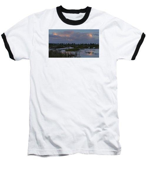 Morning Reflections Over The Wetlands Baseball T-Shirt
