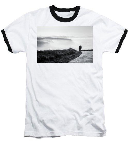 Morning Walk With Sea Mist Baseball T-Shirt