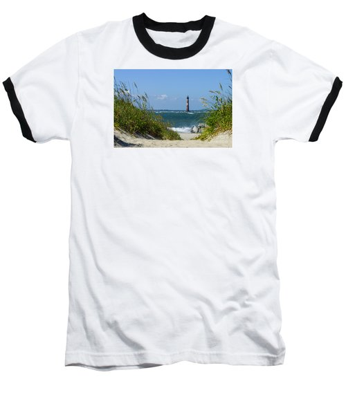Morris Island Lighthouse Walkway Baseball T-Shirt