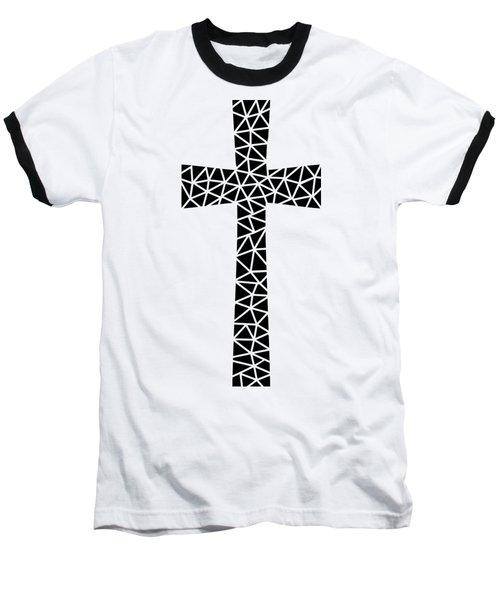 Mosaic Cross Transparent Baseball T-Shirt
