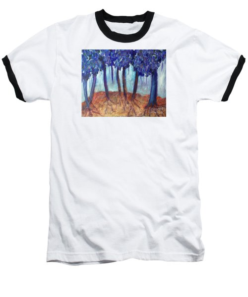 Baseball T-Shirt featuring the painting Mosaic Daydreams by Elizabeth Fontaine-Barr