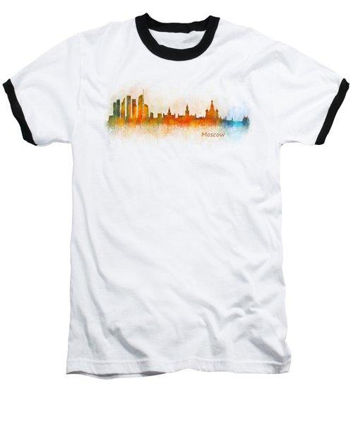 Moscow City Skyline Hq V3 Baseball T-Shirt by HQ Photo