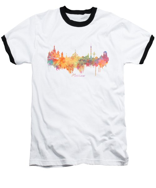 Moscow Russia Skyline City Baseball T-Shirt