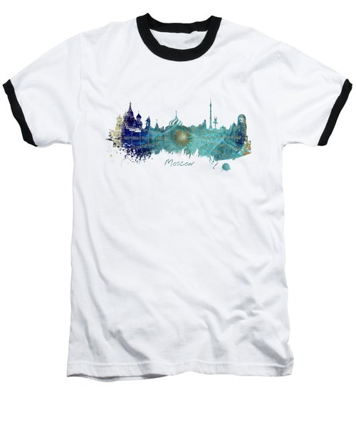 Moscow Skyline Wind Rose Baseball T-Shirt