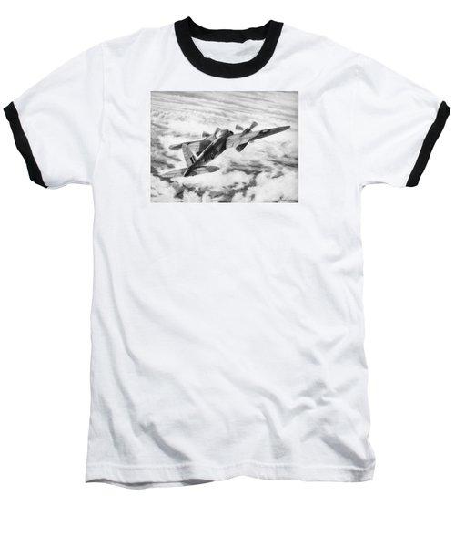 Mosquito Fighter Bomber Baseball T-Shirt by Douglas Castleman