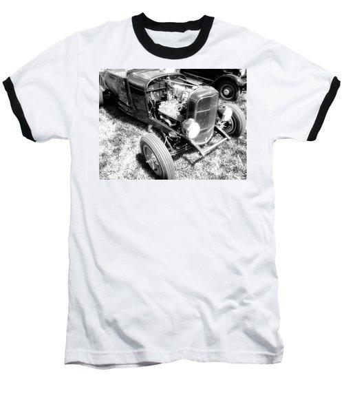 Motor Wheel Bw Baseball T-Shirt