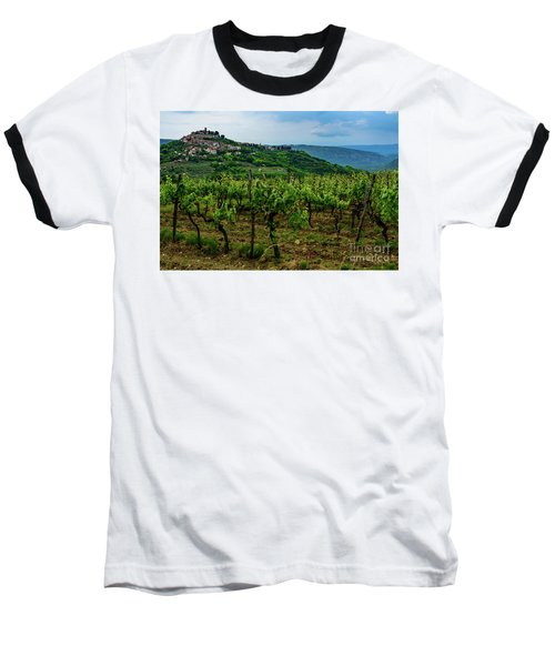 Motovun And Vineyards - Istrian Hill Town, Croatia Baseball T-Shirt