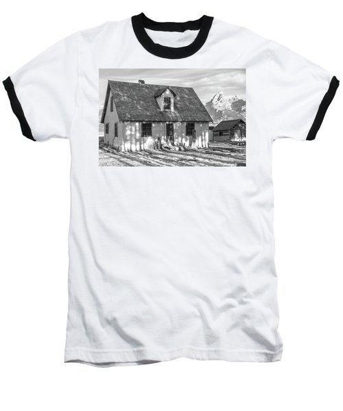 Baseball T-Shirt featuring the photograph Moulton Homestead - Pink House by Colleen Coccia
