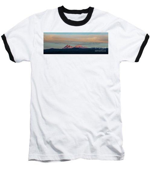 Mount Aragats, The Highest Mountain Of Armenia, At Sunset Under Beautiful Clouds Baseball T-Shirt by Gurgen Bakhshetsyan