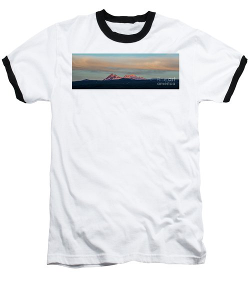 Mount Aragats, The Highest Mountain Of Armenia, At Sunset Under Beautiful Clouds Baseball T-Shirt