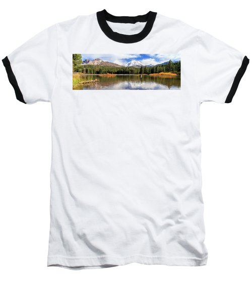 Baseball T-Shirt featuring the photograph Mount Lassen Autumn Panorama by James Eddy