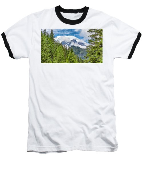 Baseball T-Shirt featuring the photograph Mount Rainier View by Stephen Stookey
