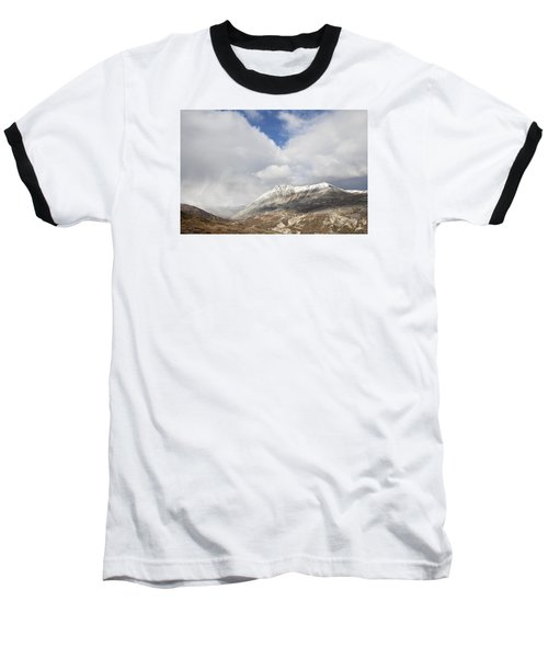 Mountain Clouds And Sun Baseball T-Shirt by Michele Cornelius