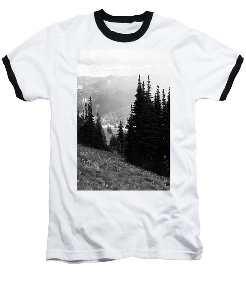Mountain Flowers Baseball T-Shirt