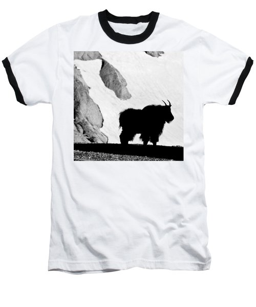 Mountain Goat Shadow Baseball T-Shirt