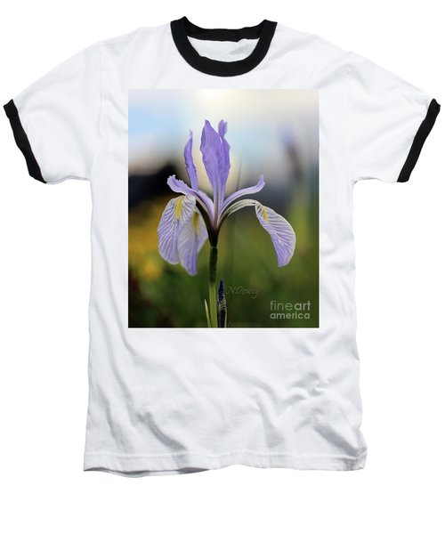Mountain Iris With Bud Baseball T-Shirt