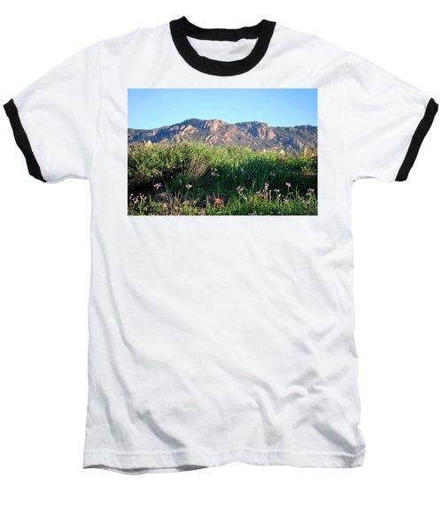 Baseball T-Shirt featuring the photograph Mountain Landscape View - Purple Flowers by Matt Harang