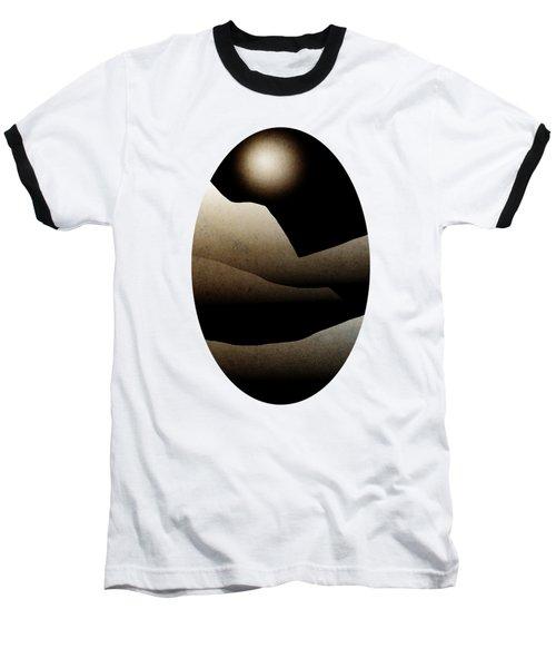 Mountain Moonlight Landscape Art Baseball T-Shirt