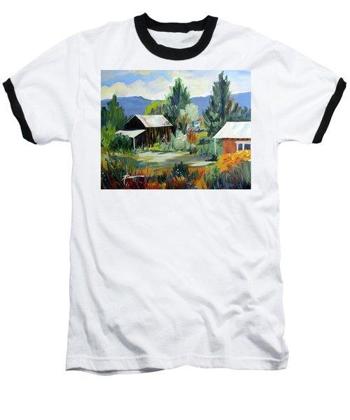 Mountain Settlement In New Mexico  Baseball T-Shirt