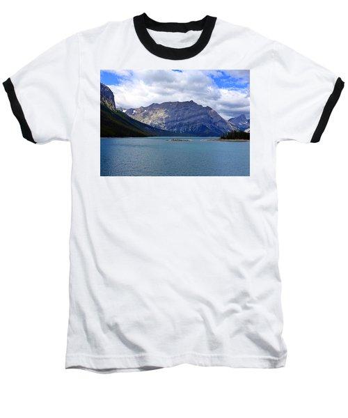 Upper Kananaskis Lake Baseball T-Shirt by Heather Vopni