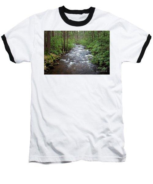 Mountain Stream Laurel Baseball T-Shirt by John Stephens