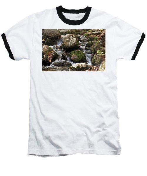 Mountain Stream Through Rocks Baseball T-Shirt