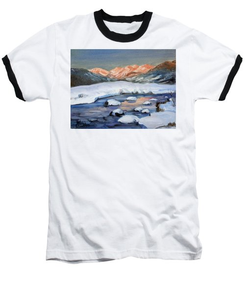 Mountain Winter Landscape 1 Baseball T-Shirt by Irek Szelag